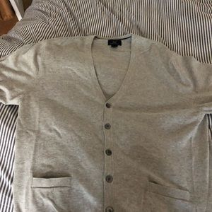 Brooks Brothers Gray Cardigan-Large